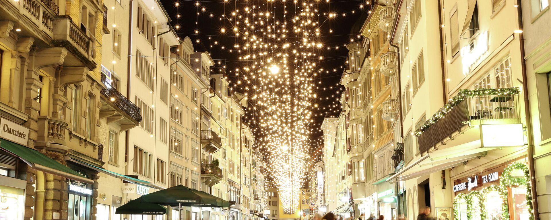 Weihnachtsdekoration der Züricher Straßen - SNA, 1920, 07.12.2020