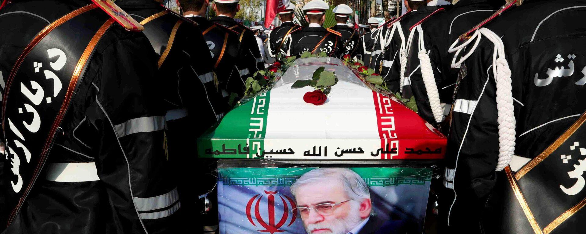 Beerdigung des iranischen Nuklearphysikers Mohsen Fakhrizadeh in Teheran am 30. November 2020 - SNA, 1920, 02.12.2020