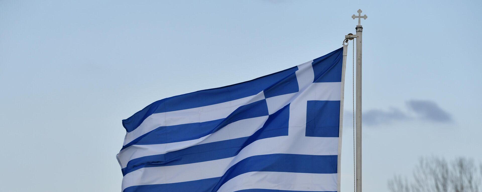 Griechische Flagge (Archivbild) - SNA, 1920, 05.04.2021