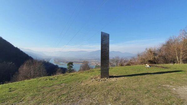 Mysteriöse Monolithen tauchen an unterschiedlichen Orten der Welt auf, hier ein Foto aus Rumänien - SNA