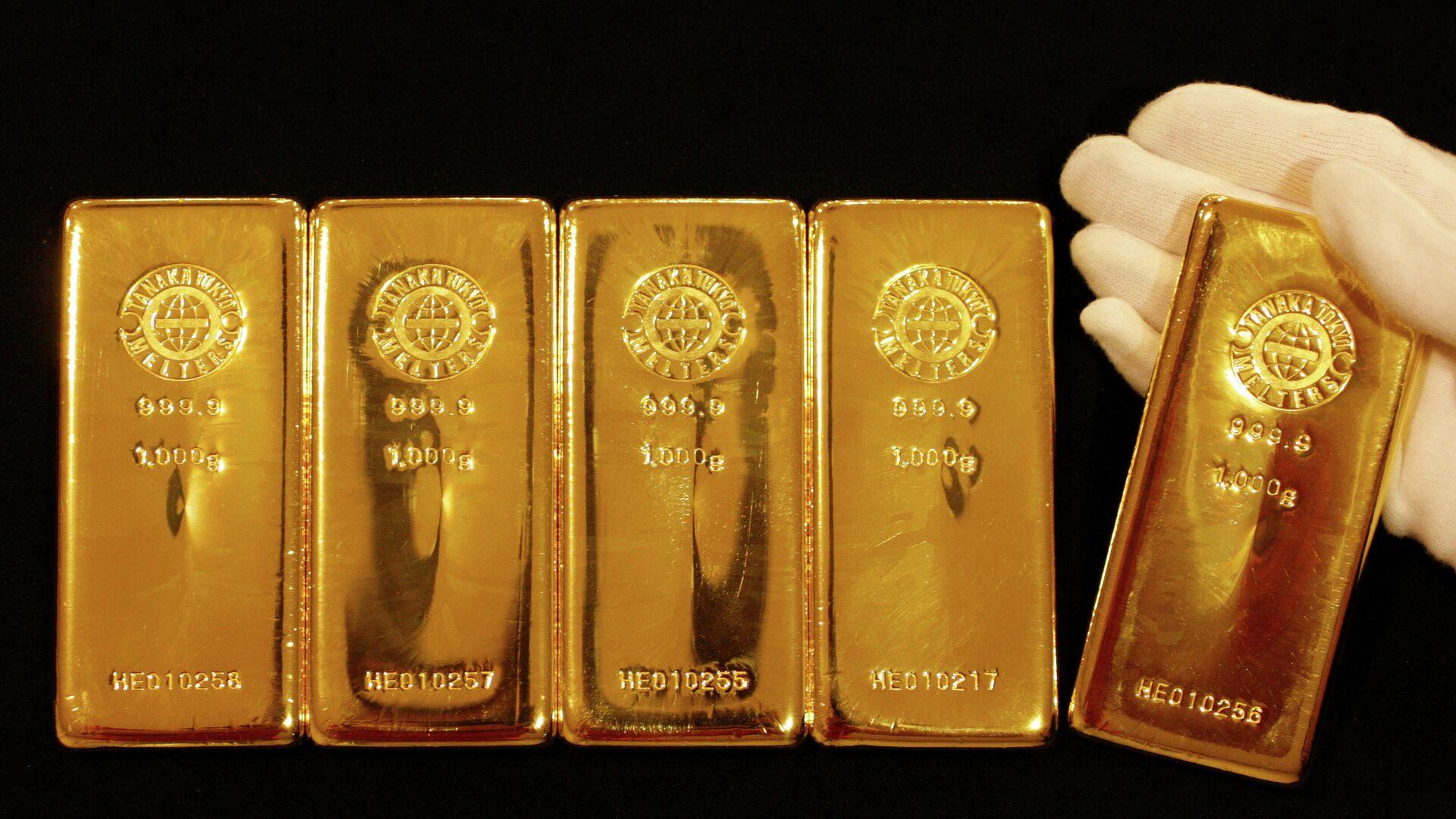 Goldbarren (Symbolbild) - SNA, 1920, 08.12.2020