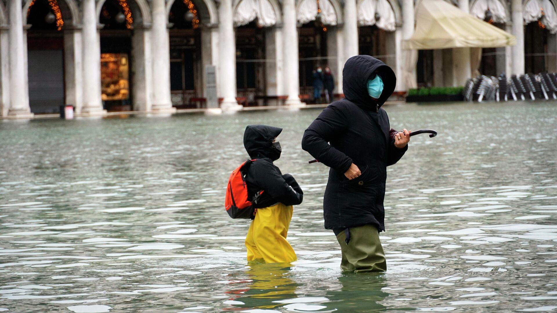 Überschwemmung in Venedig  - SNA, 1920, 09.12.2020