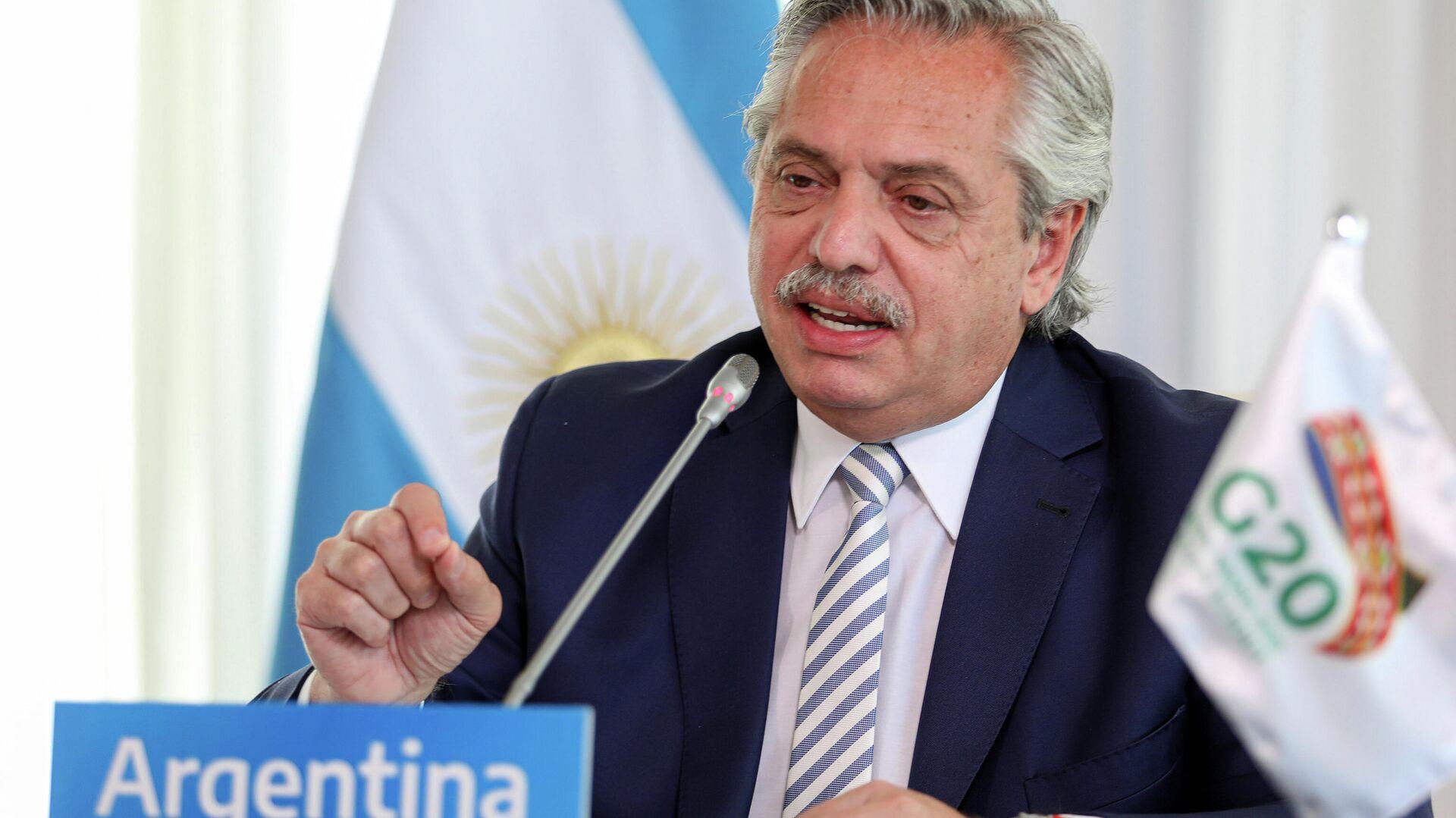 Der argentinische Präsident Alberto Fernandez - SNA, 1920, 10.12.2020