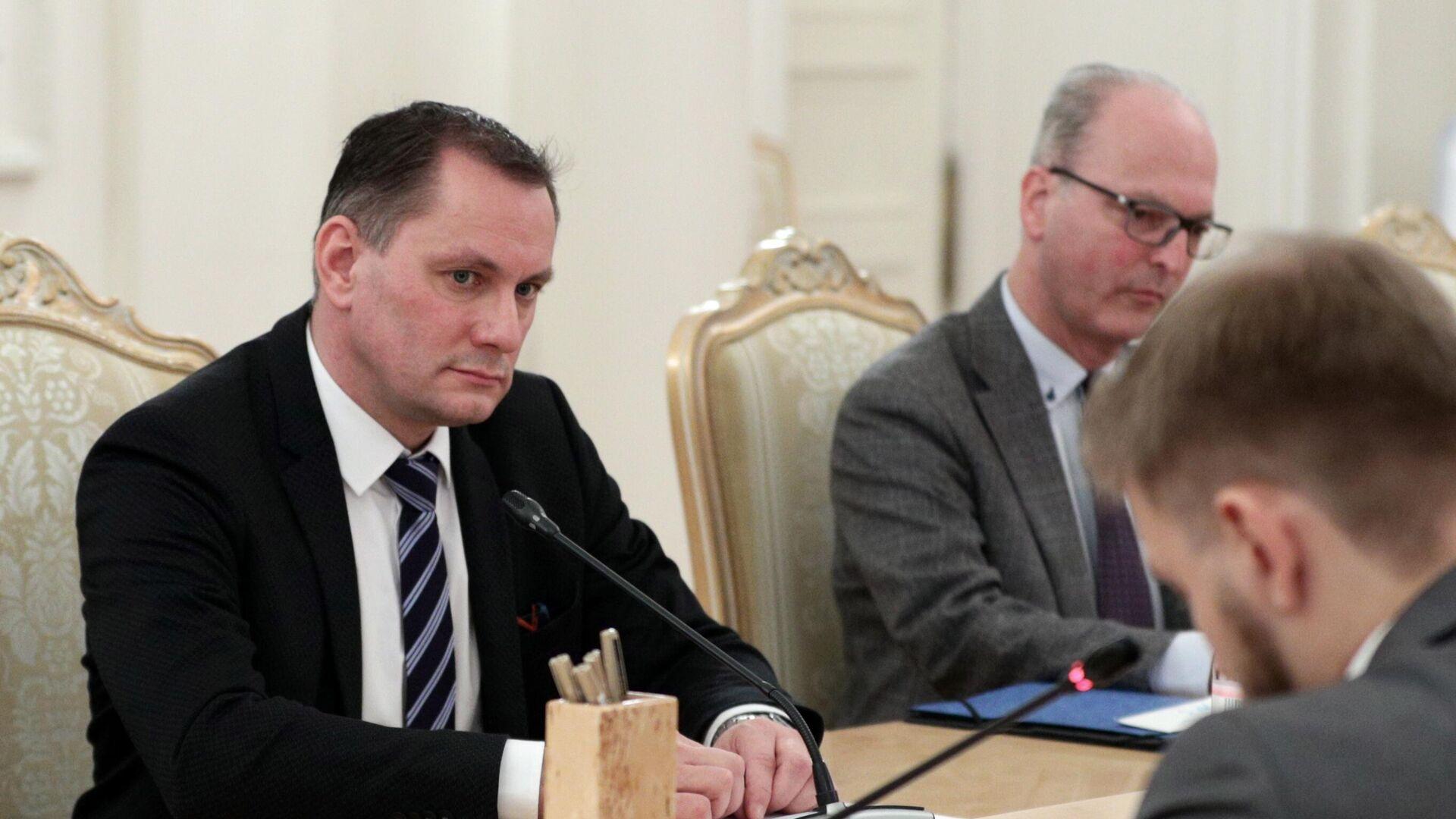 Der AfD-Co-Vorsitzende Tino Chrupalla in Moskau am 8. Dezember 2020 - SNA, 1920, 10.12.2020