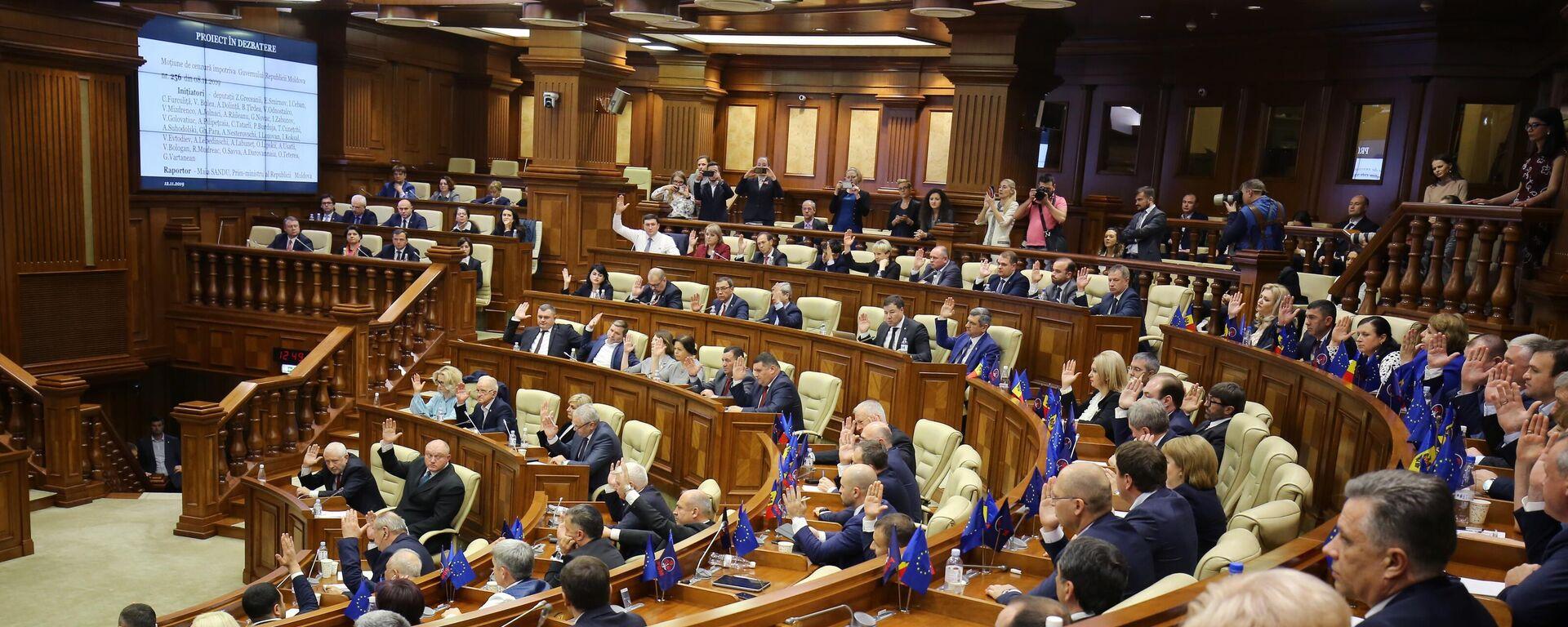 Sitzung des moldauischen Parlaments in Chisinau (Archiv) - SNA, 1920, 16.12.2020