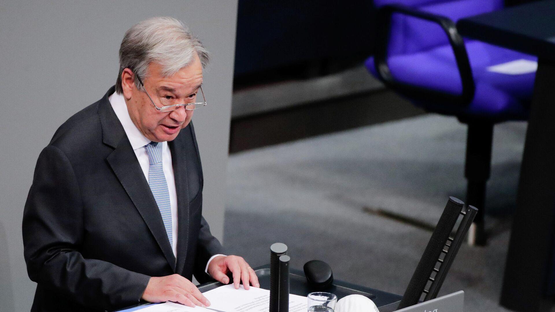 UN-Generalsekretär António Guterres hält Rede im Bundestag - SNA, 1920, 18.12.2020