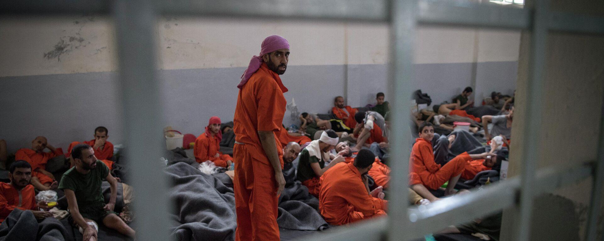 Gefängnis mit IS-Häftlingen in der syrischen Stadt Hasakeh - SNA, 1920, 19.12.2020