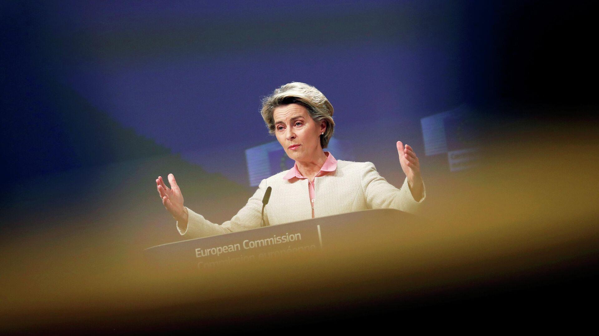 Die Präsidentin der EU-Kommission Ursula von der Leyen gibt eine Erklärung zum Ergebnis der Brexit-Verhandlungen ab (24.12.2020, Brüssel, Belgien) - SNA, 1920, 08.01.2021