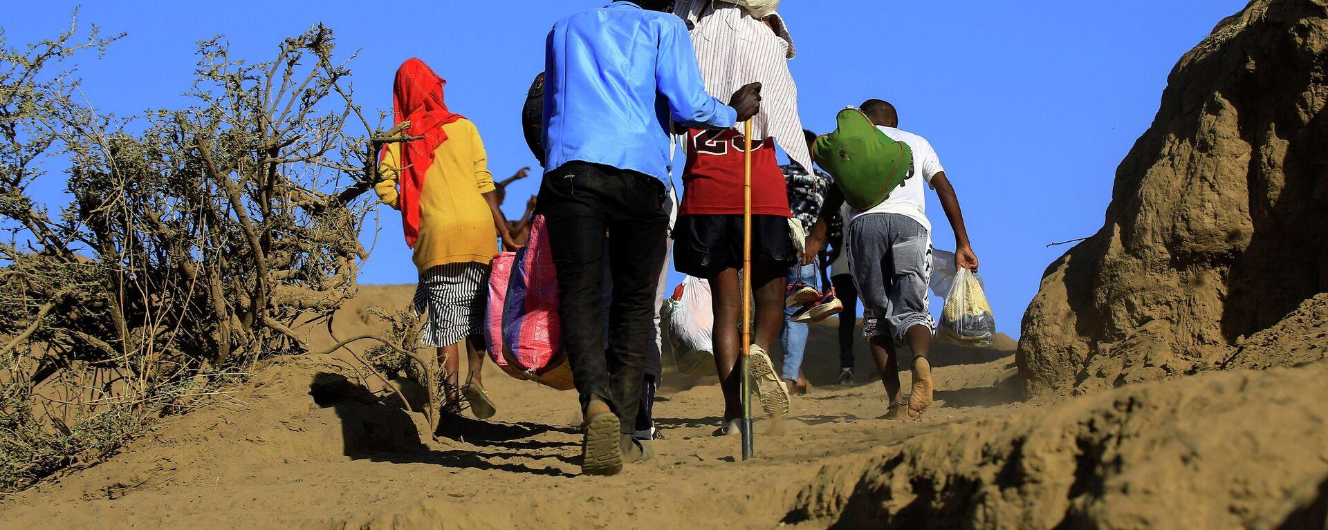 Äthiopier fliehen ins Nachbarland Sudan - SNA, 1920, 25.12.2020