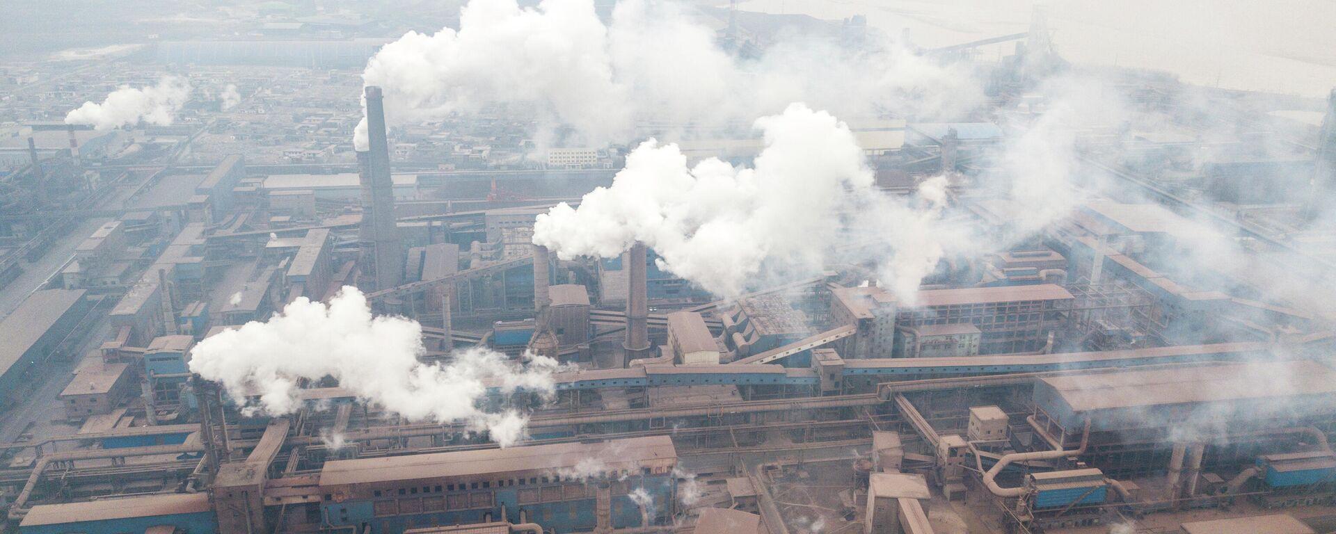 Luftfoto von Fabriken in der chinesischen Stadt Hancheng (Archivbild) - SNA, 1920, 30.12.2020