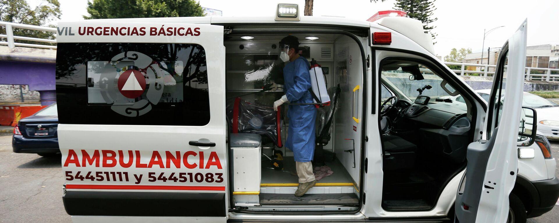 Ein Krankenwagen in Mexiko-Stadt  - SNA, 1920, 02.01.2021