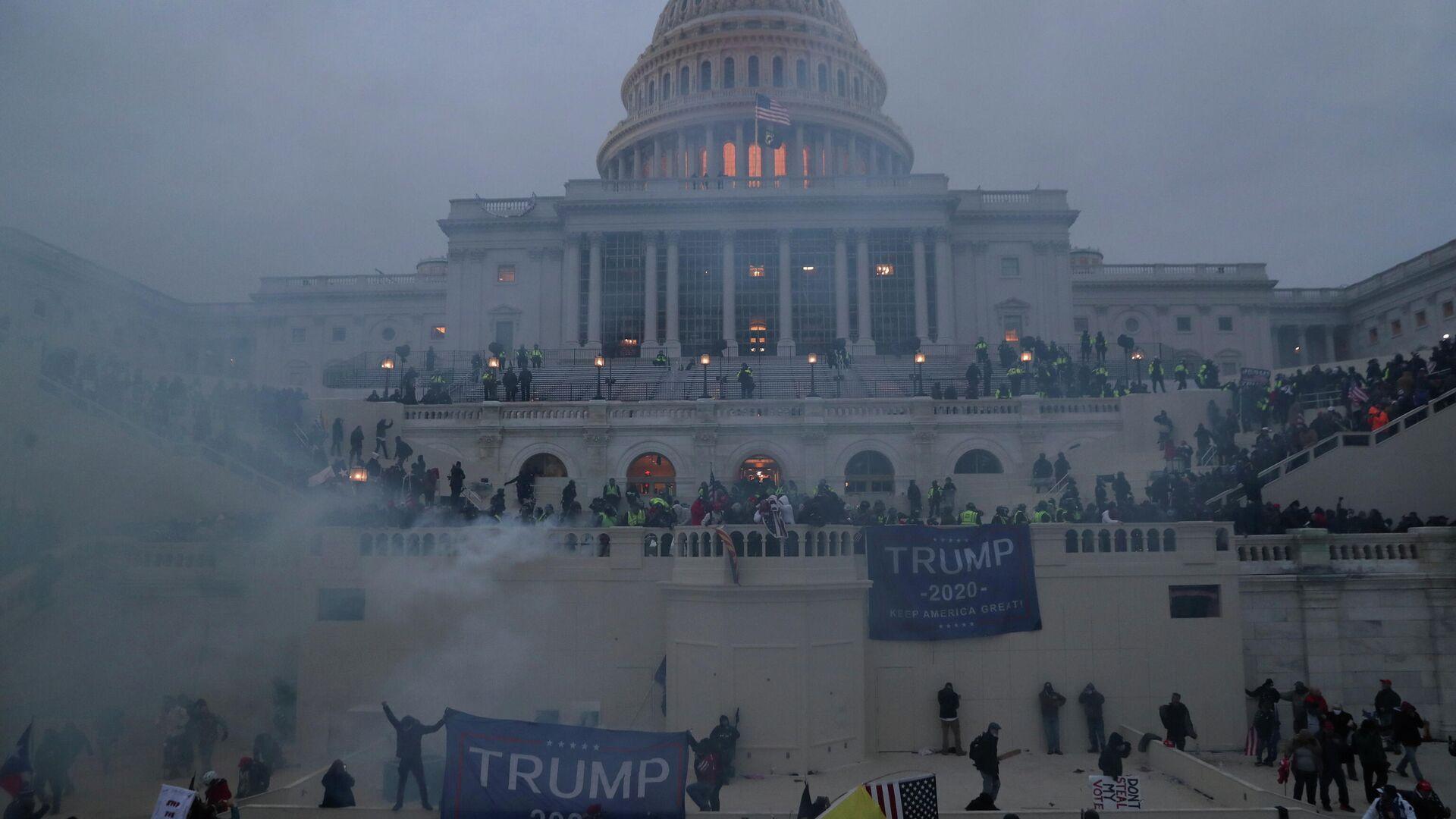 Anhänger von Donald Trump erstürmen das US-Kapitol - SNA, 1920, 08.01.2021