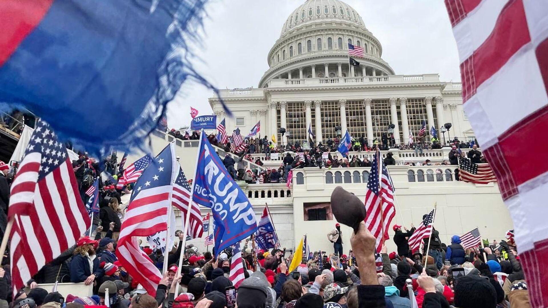 Anhänger von Donald Trump am US-Kapitol, Washington, der 6. Januar 2021 - SNA, 1920, 07.01.2021