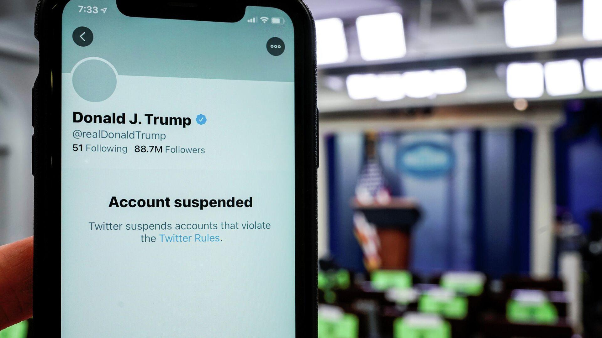 Der gesperrte Twitter-Profil von Donald Trump - SNA, 1920, 11.01.2021