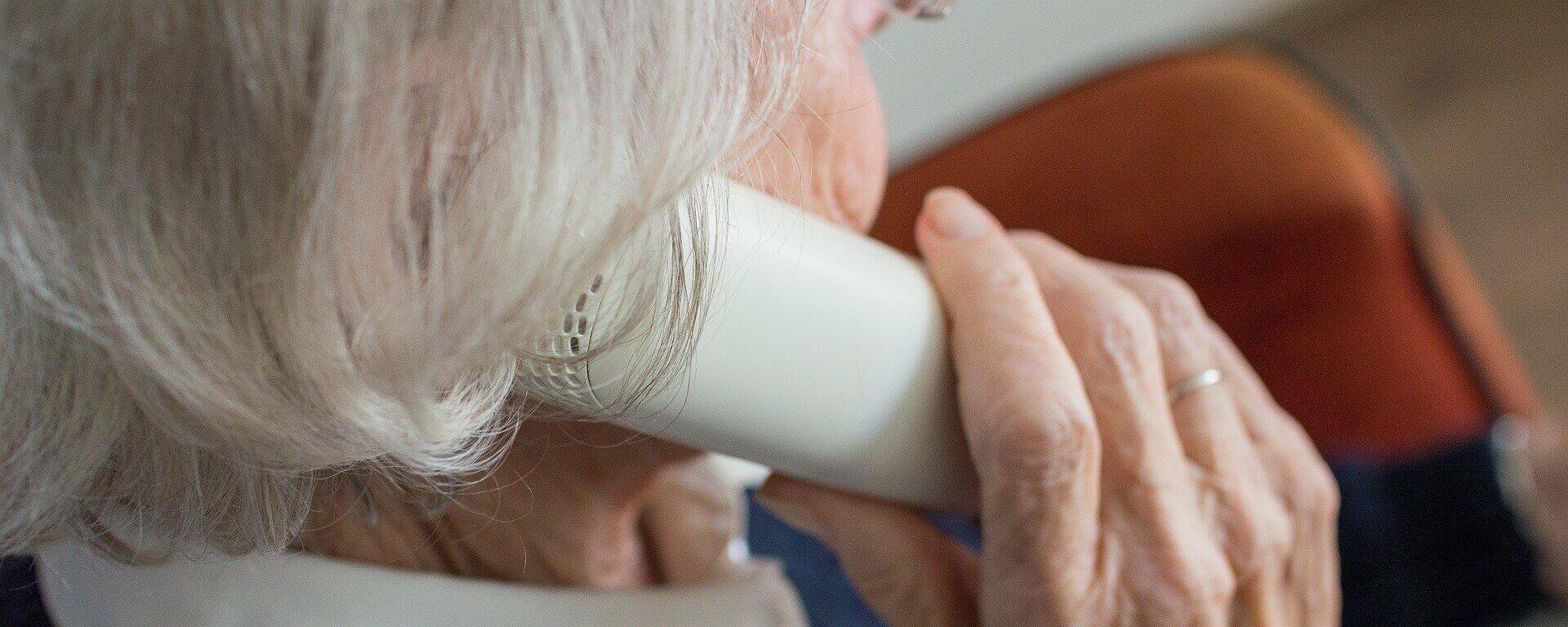 Ältere Dame am Telefon (Symbolbild) - SNA, 1920, 17.03.2021