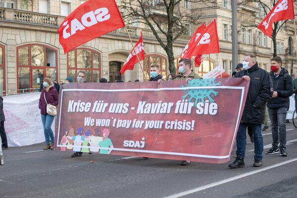 """Durch den Entschluss der Partei """"Die Linke"""", ihre Ehrung Rosa Luxemburgs und Karl Liebknechts auf den März zu verschieben, traten andere Parteien und Gruppen stärker in den Vordergrund. - SNA"""