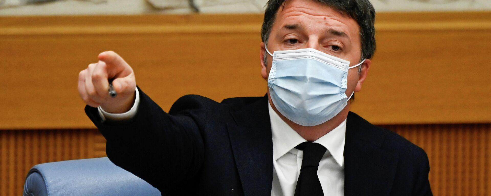 Der Chef der in Italien mitregierenden Partei Italia Viva, Matteo Renzi - SNA, 1920, 13.01.2021