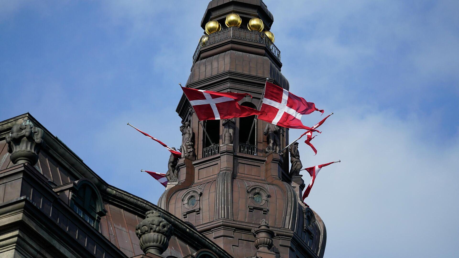 Das Parlamentsgebäude in Kopenhagen, Dänemark (Schloss Christiansborg) - SNA, 1920, 28.02.2021