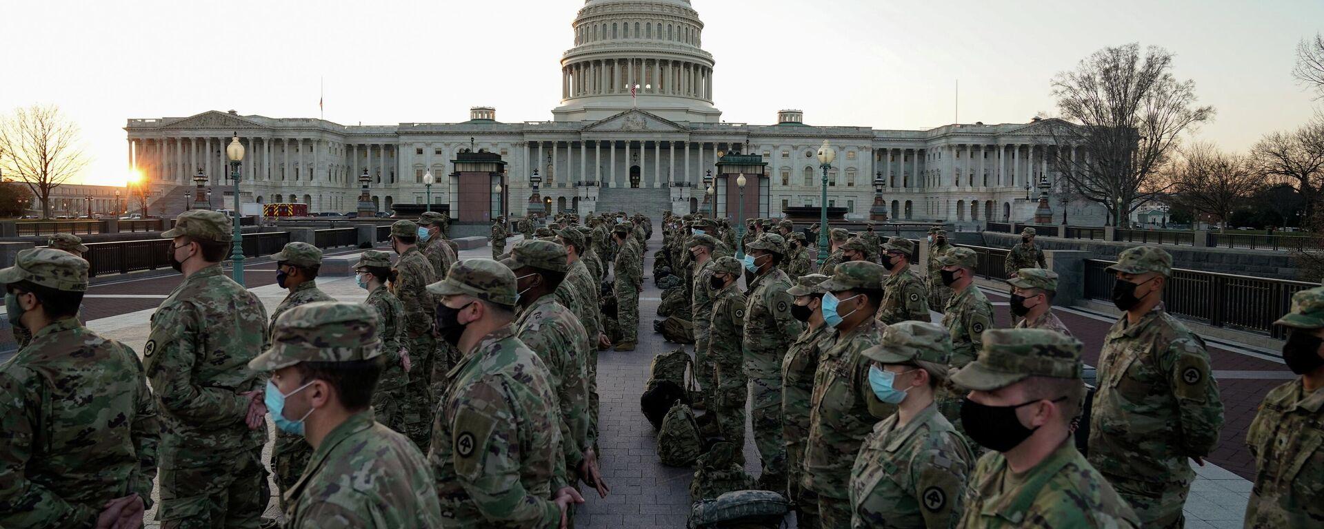 US-Nationalgarde vor dem Kapitol-Gebäude in Washington, 12. Januar 2020 - SNA, 1920, 14.01.2021