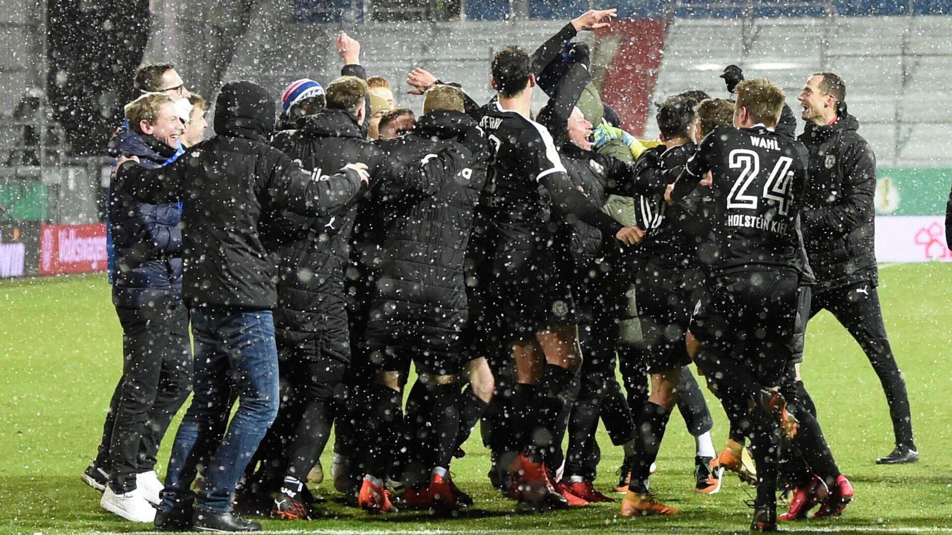 Holstein Kiel feiert Sieg gegen FC Bayern  - SNA, 1920, 14.01.2021