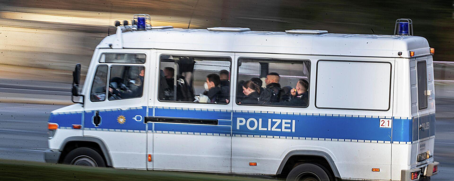 Ein Polizeiwagen in Berlin - SNA, 1920, 18.01.2021
