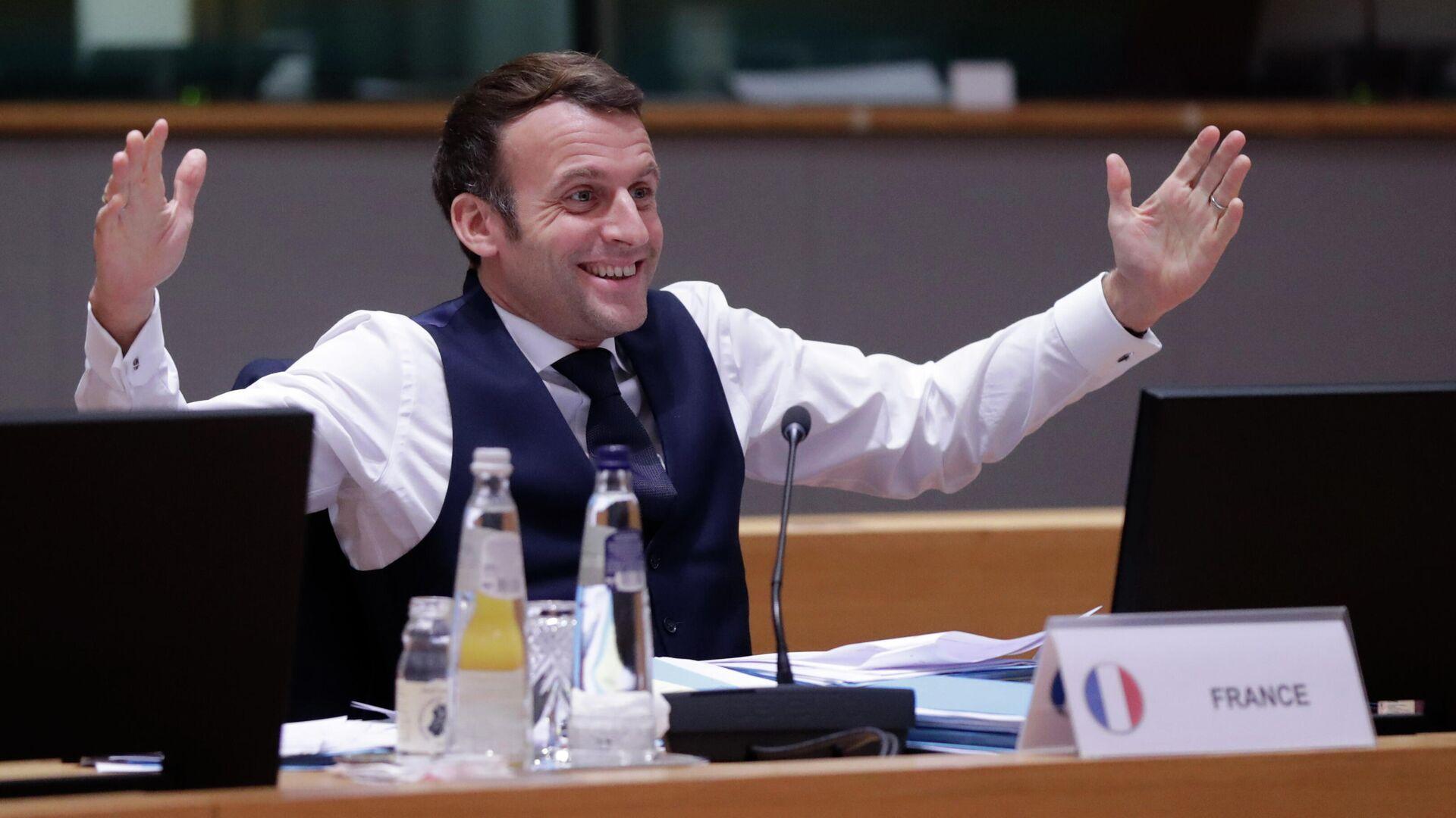 Frankreichs Präsident Emmanuel Macron  - SNA, 1920, 20.01.2021