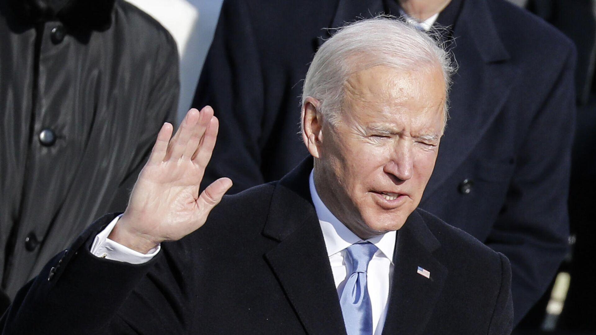 Joe Biden bei der Vereidigung als US-Präsident am 20. Januar 2021 - SNA, 1920, 26.01.2021