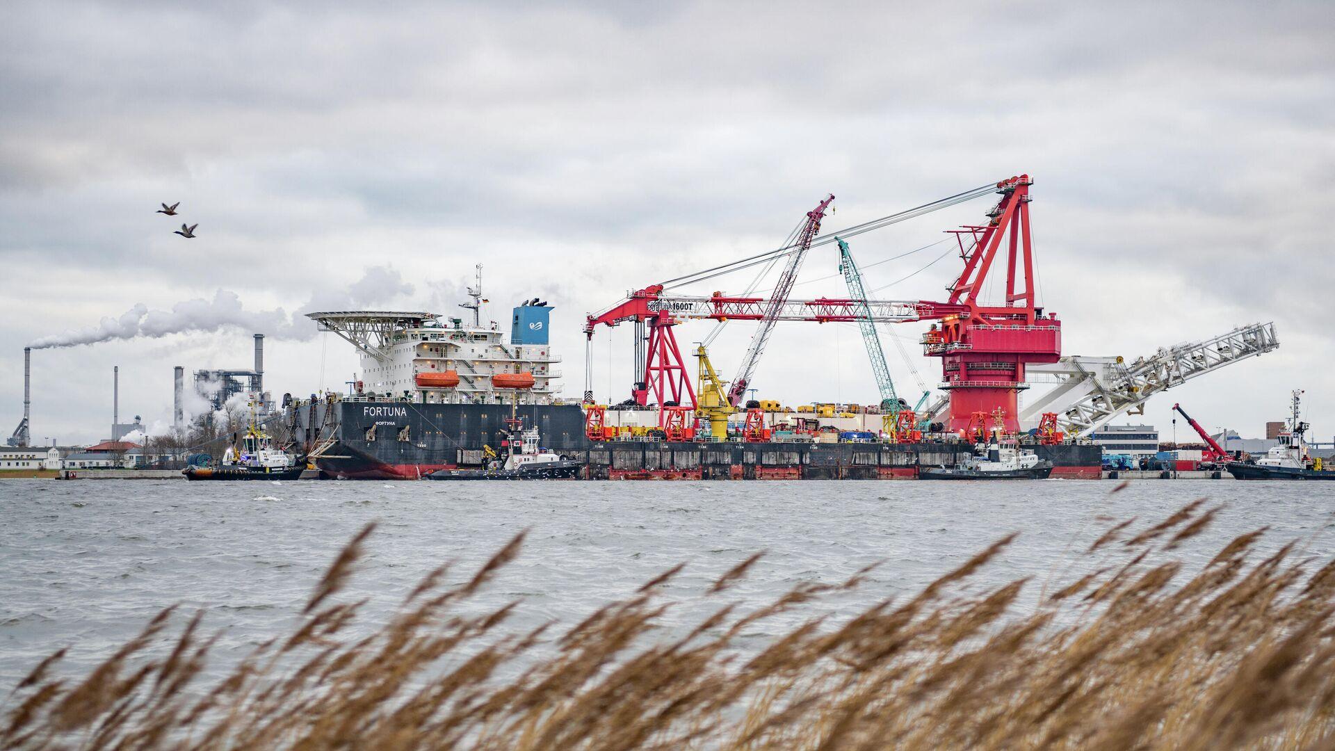 Bau der Ostsee-Pipeline Nord Stream 2 nahe Wismar - SNA, 1920, 26.02.2021