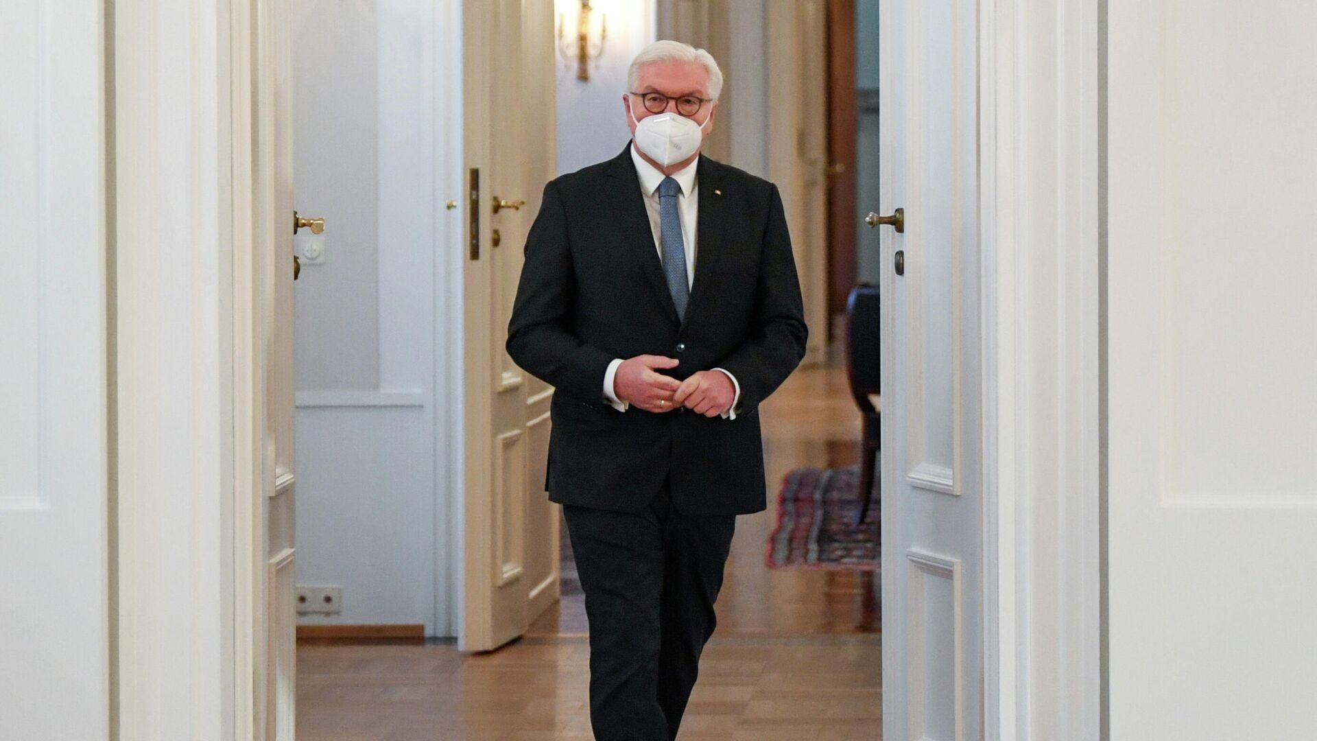 Bundespräsident Frank-Walter Steinmeier im Bellevue-Palast in Berlin, 7. Januar 2021 - SNA, 1920, 22.01.2021