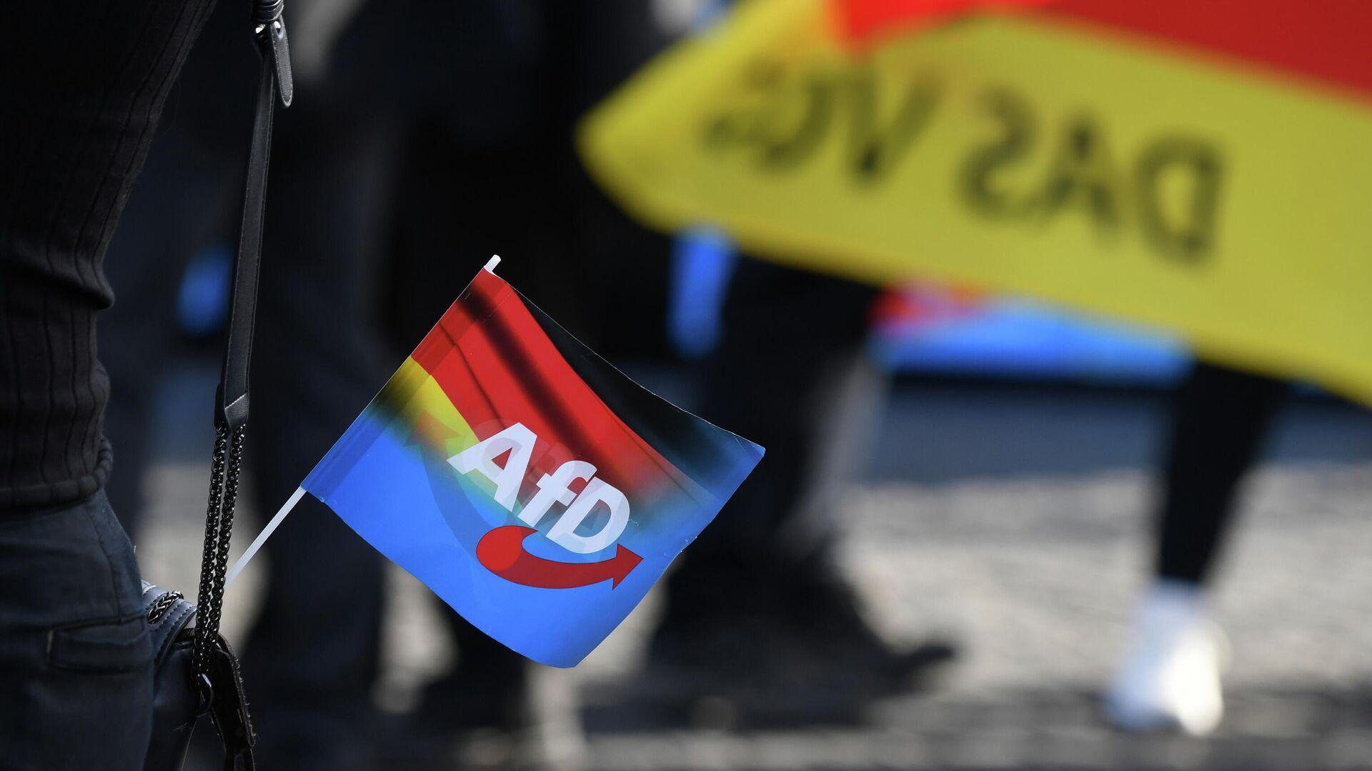 Eine Flagge der AfD (Alternative für Deutschland),  26. Oktober 2019, Erfurt  - SNA, 1920, 22.01.2021