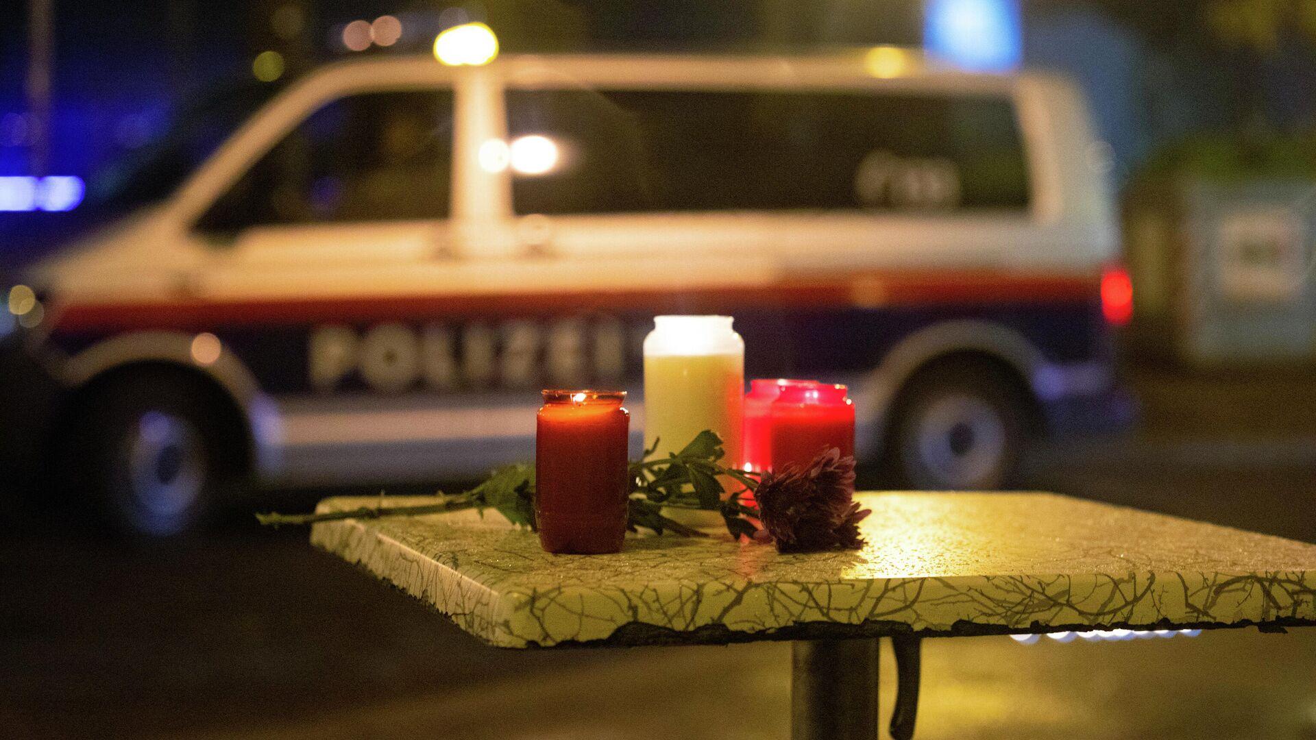 Kerzen am Ort des Terroranschlags in Wien, 3. November 2020 - SNA, 1920, 07.07.2021