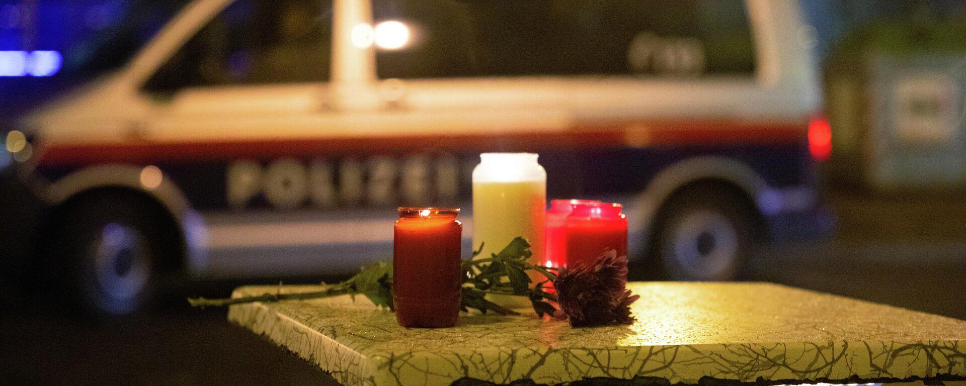Kerzen am Ort des Terroranschlags in Wien, 3. November 2020 - SNA, 1920, 31.01.2021