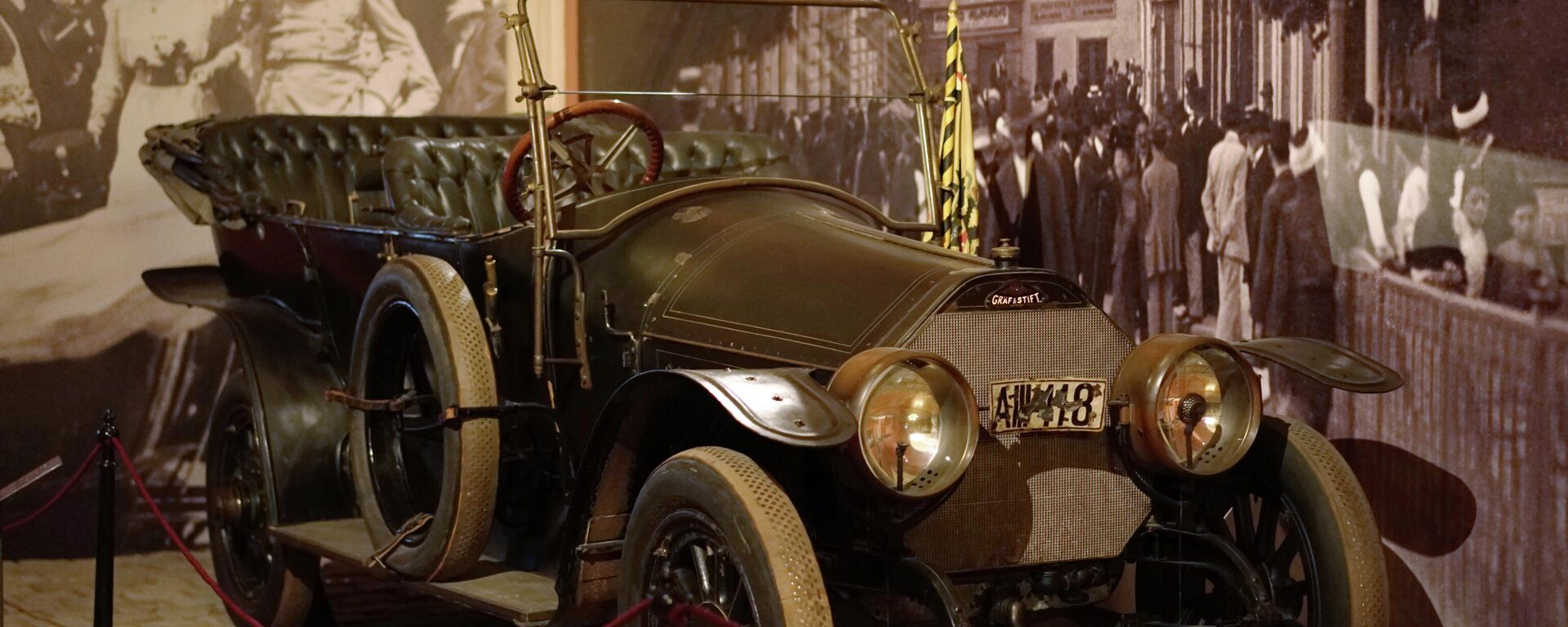 Das Auto ausgestellt, in dem Thronfolger Franz Ferdinand und seine Frau 1914 in Sarajewo erschossen wurden (Archiv) - SNA, 1920, 01.02.2021