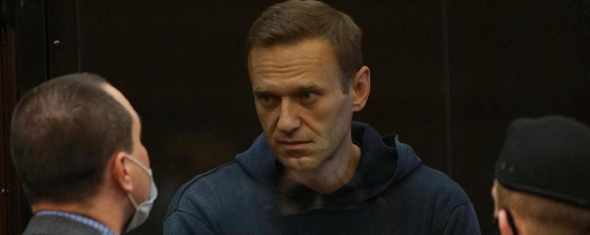 Alexej Nawalny im Moskauer Gericht am 2. Februar 2021 - SNA, 1920, 24.02.2021