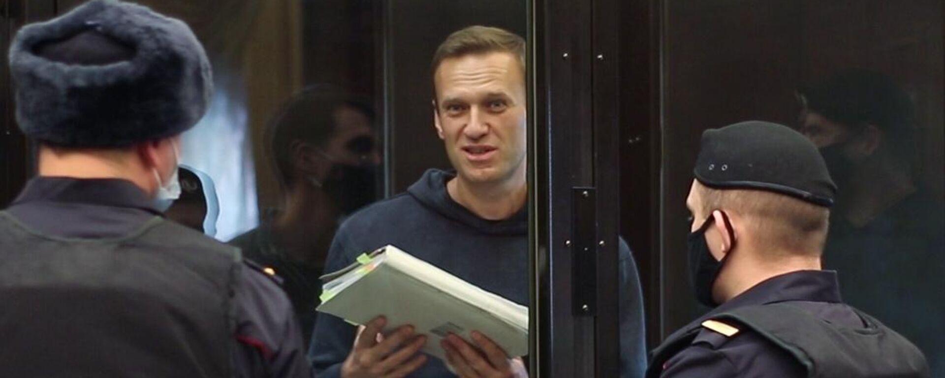 Alexej Nawalny im Gerichtssaal  - SNA, 1920, 02.02.2021