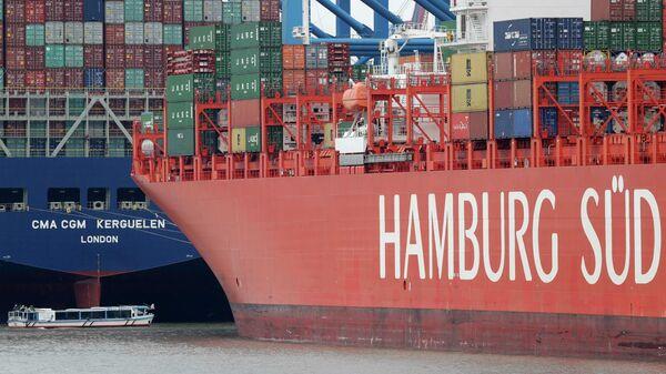 Transportschiffe im Hamburger Hafen (Archivbild) - SNA
