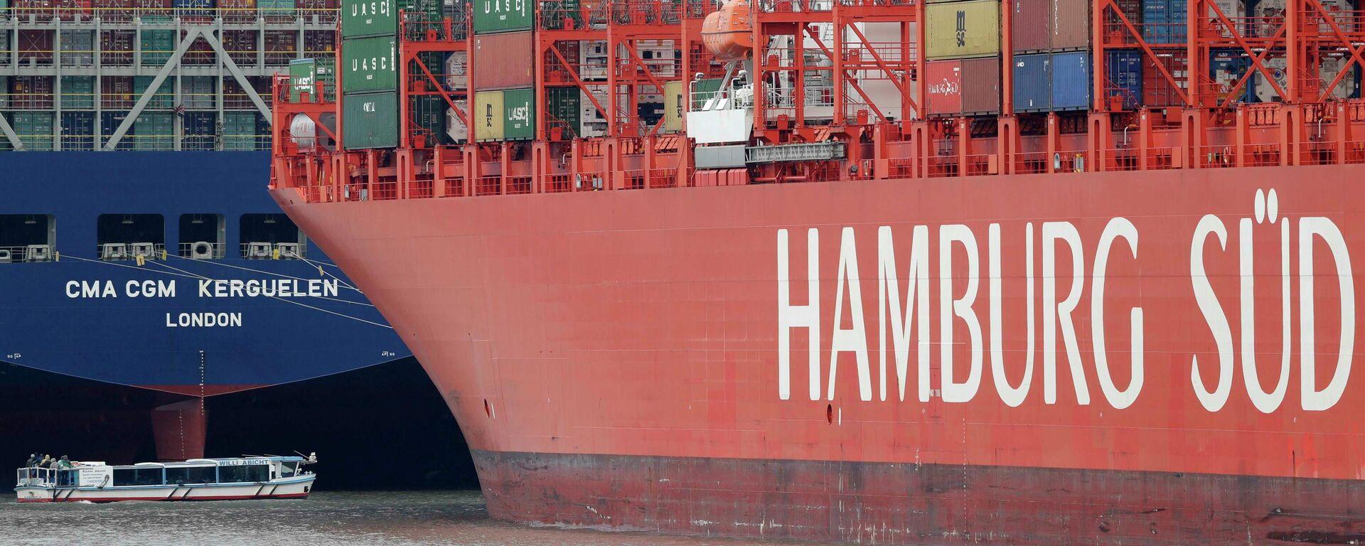 Transportschiffe im Hamburger Hafen (Archivbild) - SNA, 1920, 18.02.2021