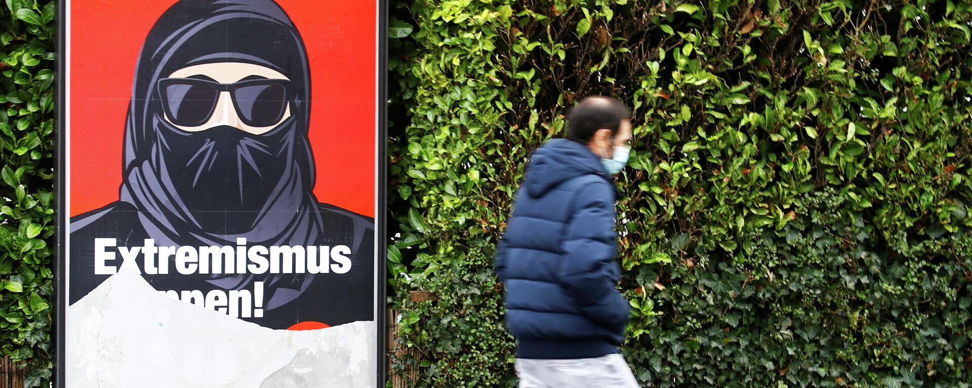 Plakat der Anti-Burka-Initiative in Zürich - SNA, 1920, 09.02.2021