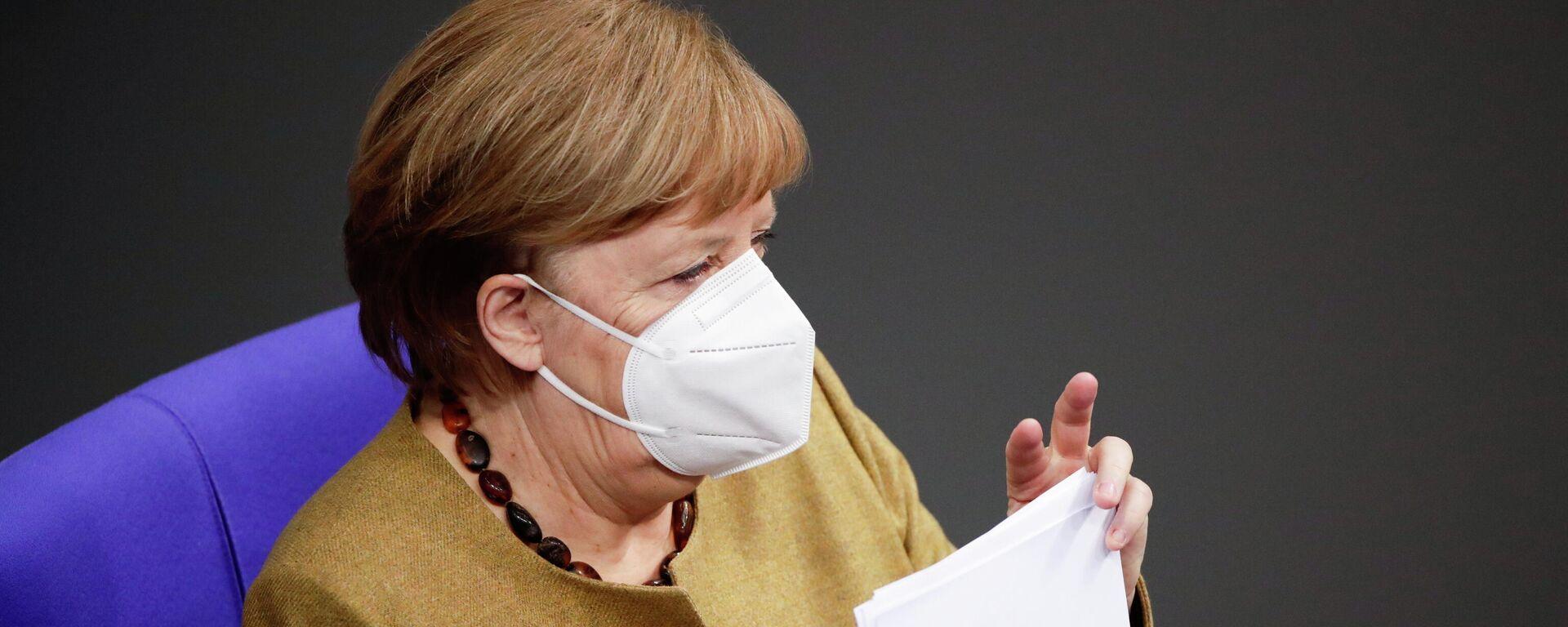 Bundeskanzlerin Angela Merkel im Bundestag (Berlin, 11.02.2021) - SNA, 1920, 11.02.2021