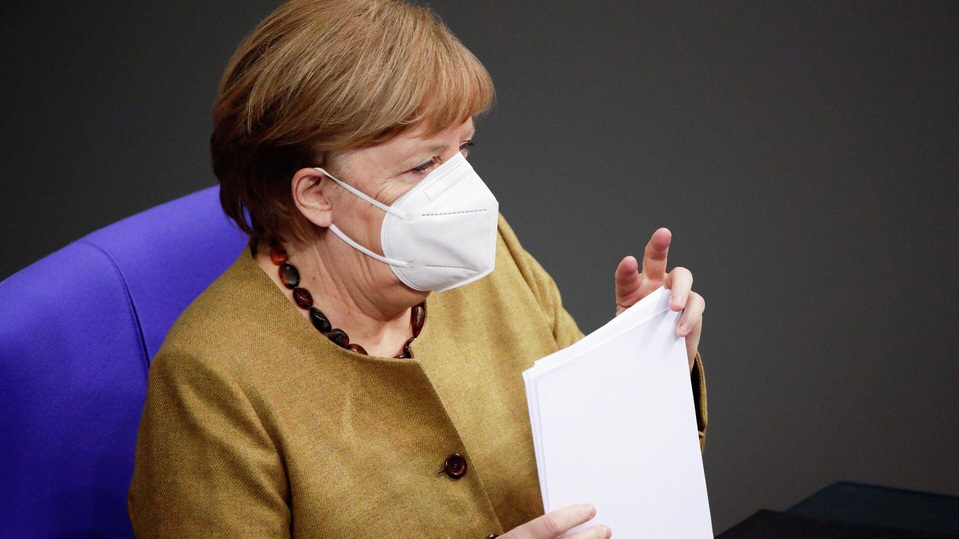 Bundeskanzlerin Angela Merkel im Bundestag (Berlin, 11.02.2021) - SNA, 1920, 26.02.2021