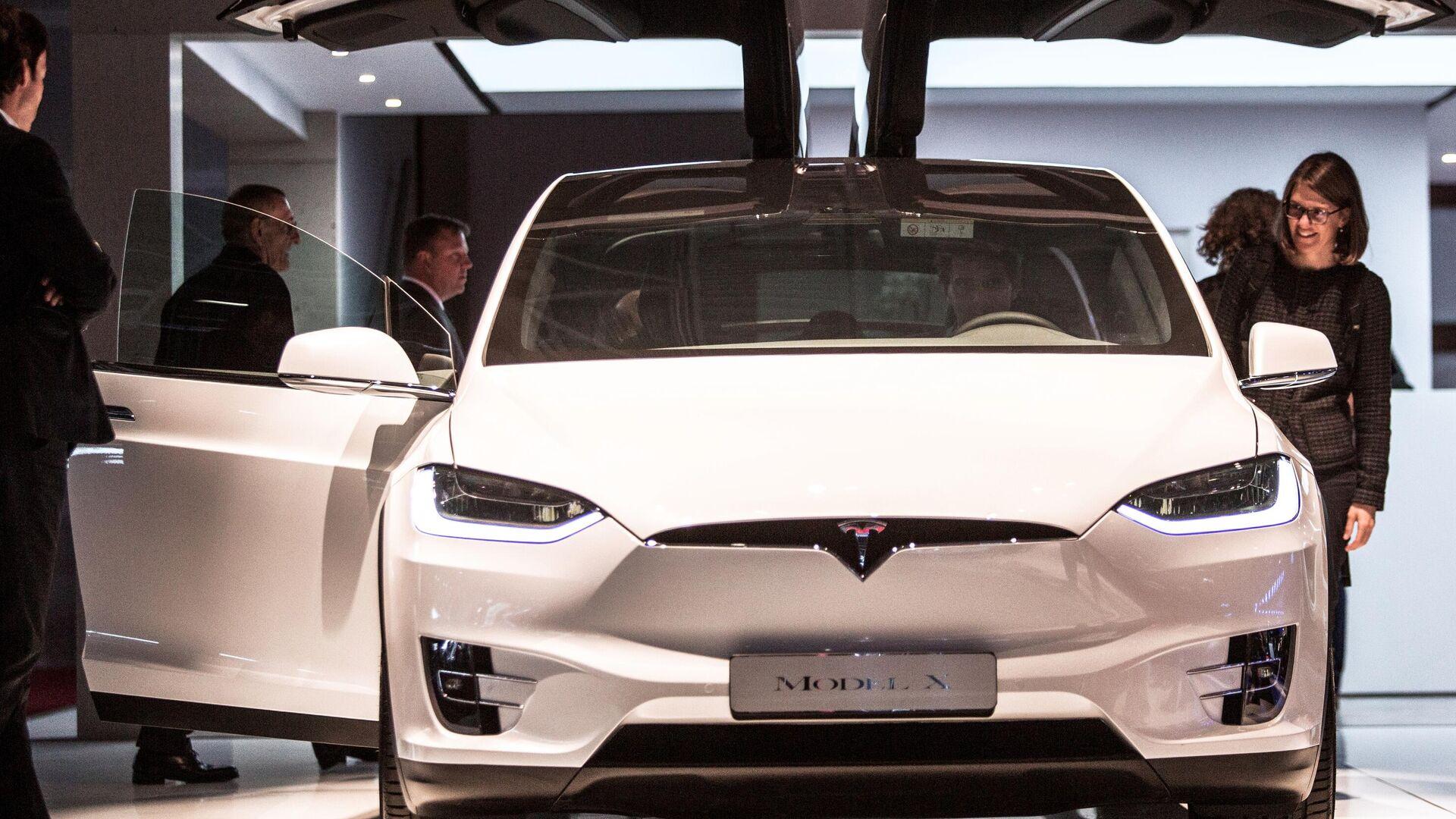 Tesla Model X beim Pariser Autosalon (Archivbild) - SNA, 1920, 21.09.2021