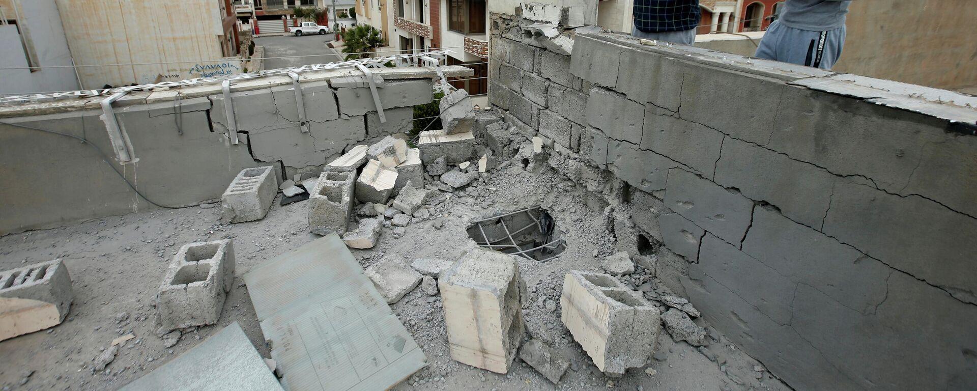 Folgen eines Raketenangriffs in Erbil, Irak - SNA, 1920, 17.02.2021