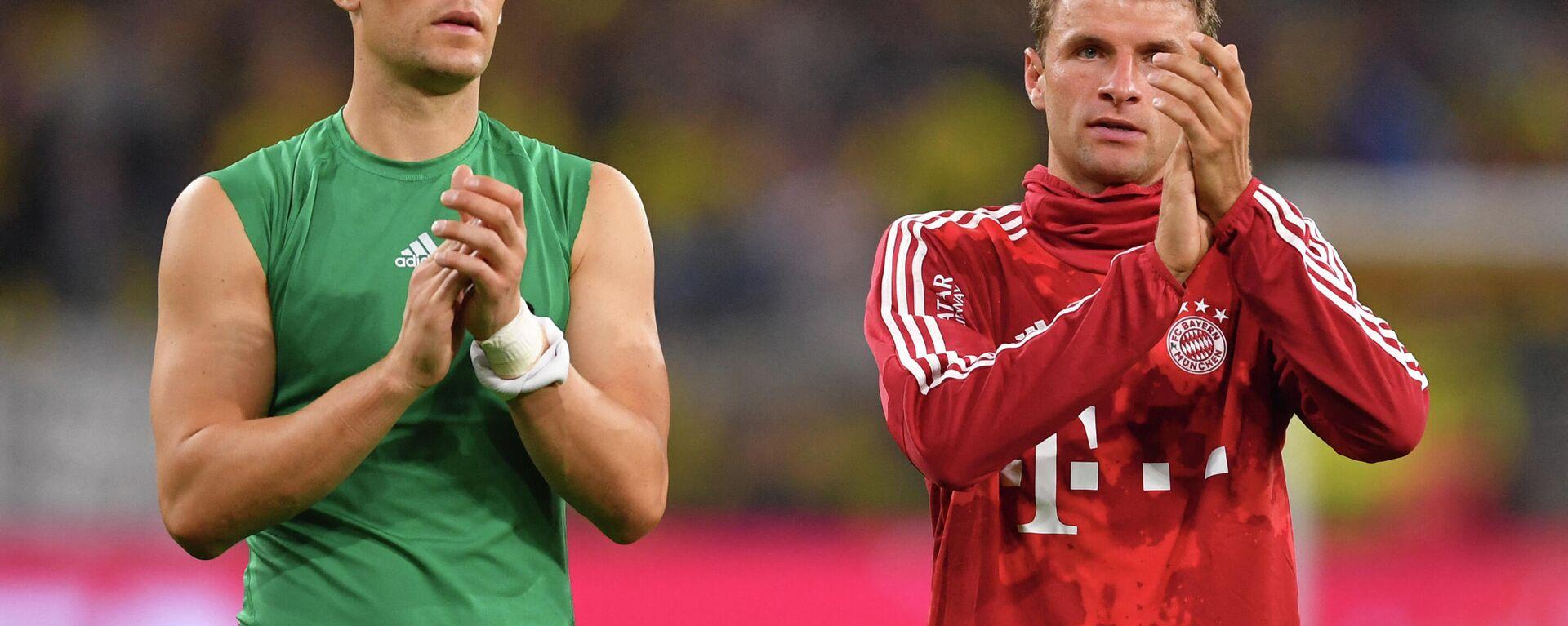Manuel Neuer (L) und Thomas Müller, FC Bayern München, 3. August 2019.  - SNA, 1920, 17.02.2021