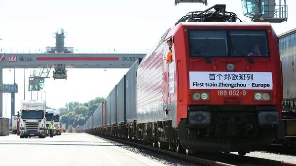 Eröffnungszeremonie der Eisenbahn Zhengzhou-Europa in Hamburg (Archivbild) - SNA