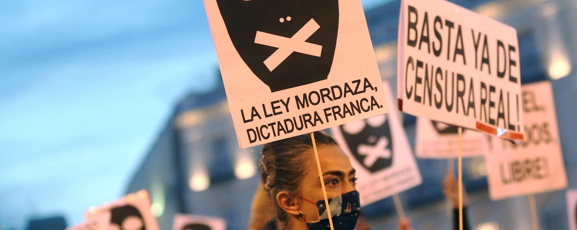 Proteste in Spanien  - SNA, 1920, 19.02.2021