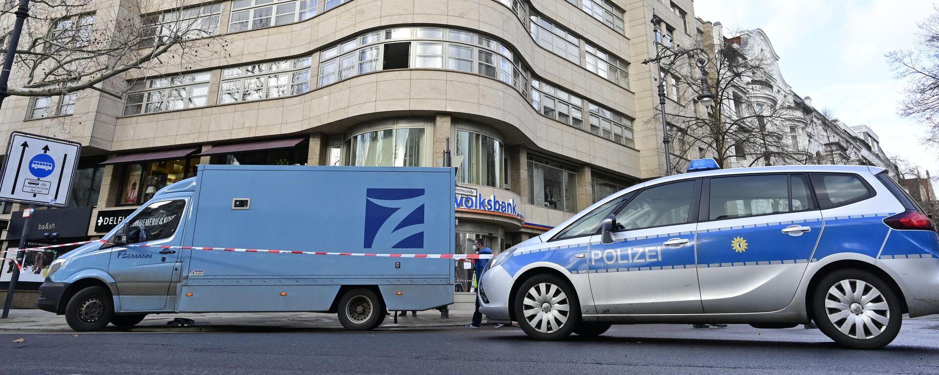 Polizei am Ort des Geldtransporter-Überfalls in Berlin, 19. Februar 2021 - SNA, 1920, 19.02.2021