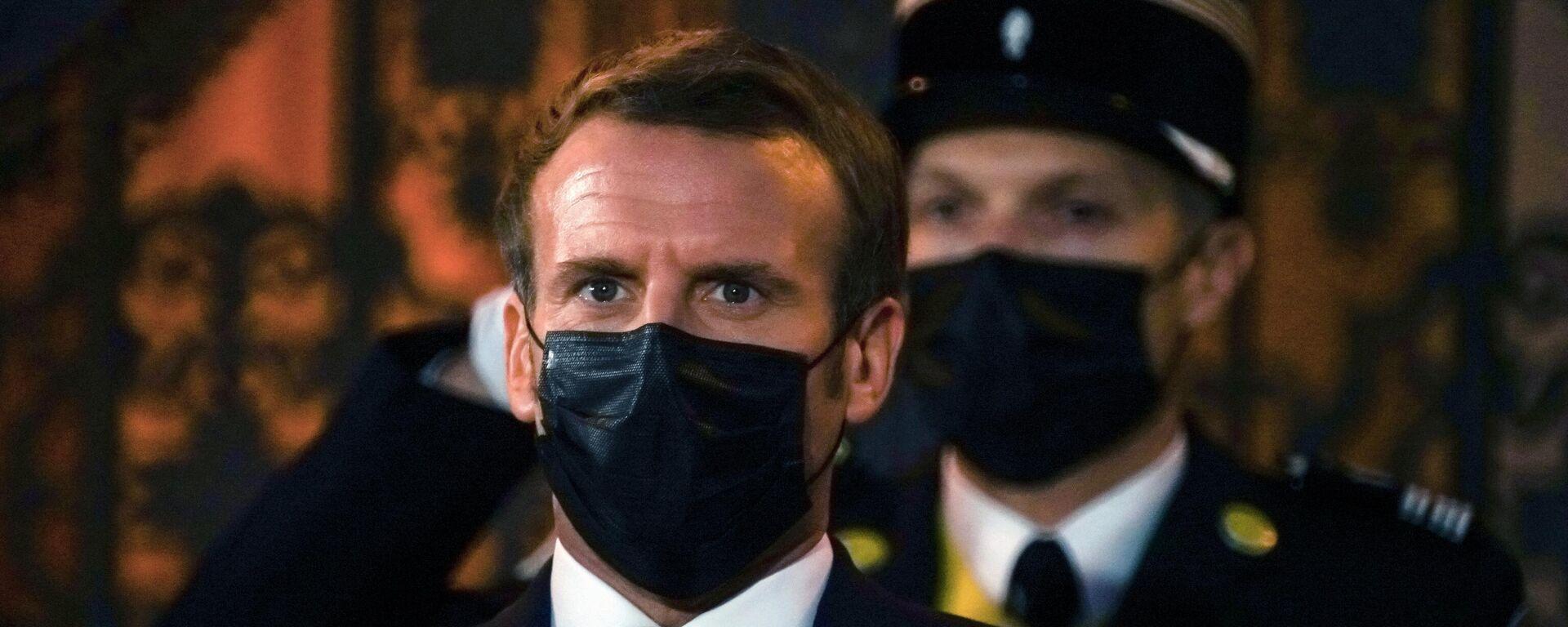 Frankreichs Staatspräsident Emmanuel Macron (Archiv) - SNA, 1920, 08.04.2021