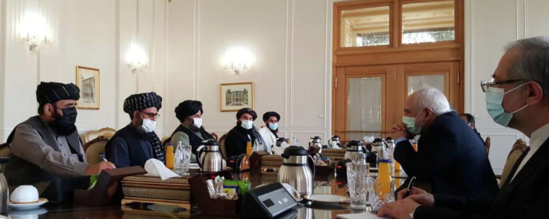 Friedensverhandlungen zwischen iranischem Außenminister und Taliban-Chef am 31. Januar 2021 - SNA, 1920, 22.02.2021