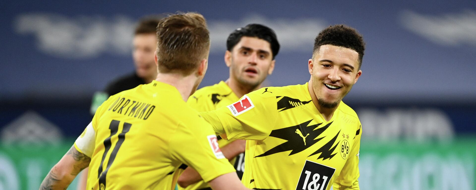 BvB-Fußballer feiern ihren Sieg im Ruhr-Derby gegen FC Schalke 04, 20. Februar 2021 - SNA, 1920, 22.02.2021