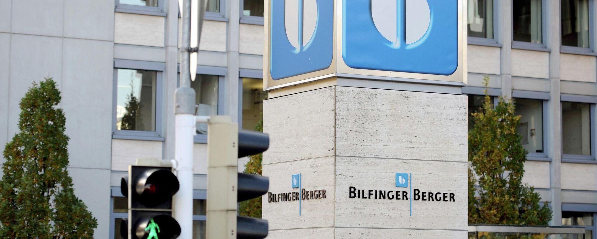Der Hauptsitz des deutschen Bauunternehmens Bilfinger Berger ist am 29. Oktober 2010 im süddeutschen Mannheim zu sehen. - SNA, 1920, 23.02.2021